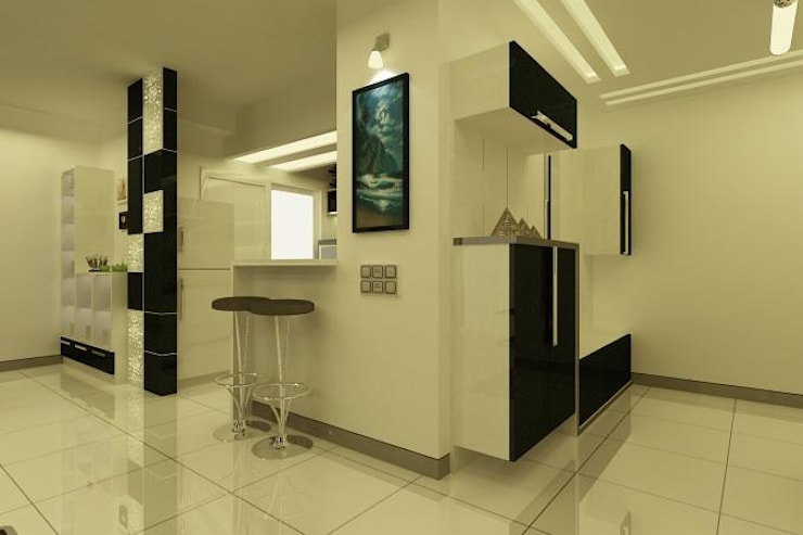 Project at Elita Promenade:  Corridor & hallway by ACE INTERIORS