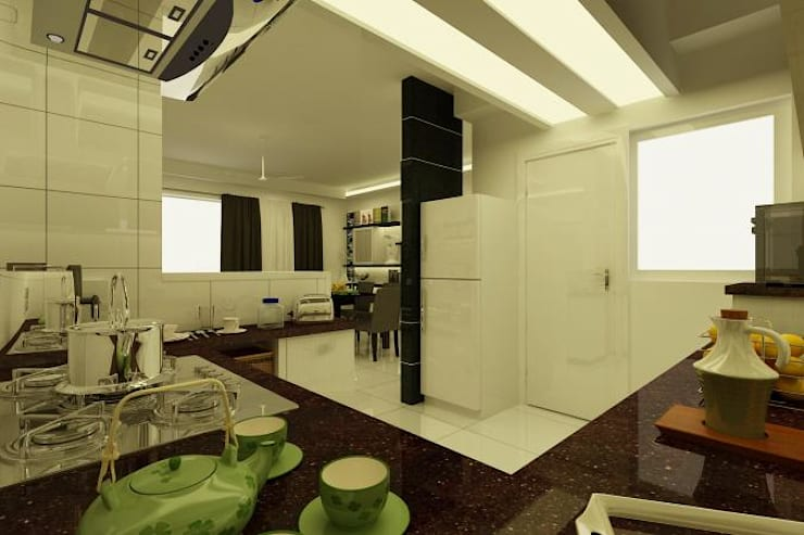 Project at Elita Promenade:  Kitchen by ACE INTERIORS