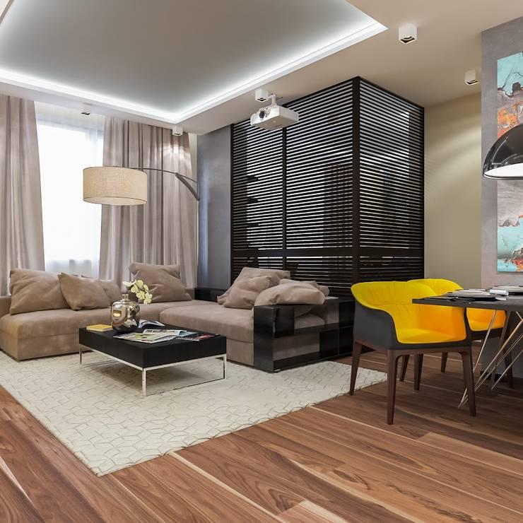 квартира в Москве Гостиная в стиле модерн от Interierium ДИЗАЙН ИНТЕРЬЕРОВ Модерн