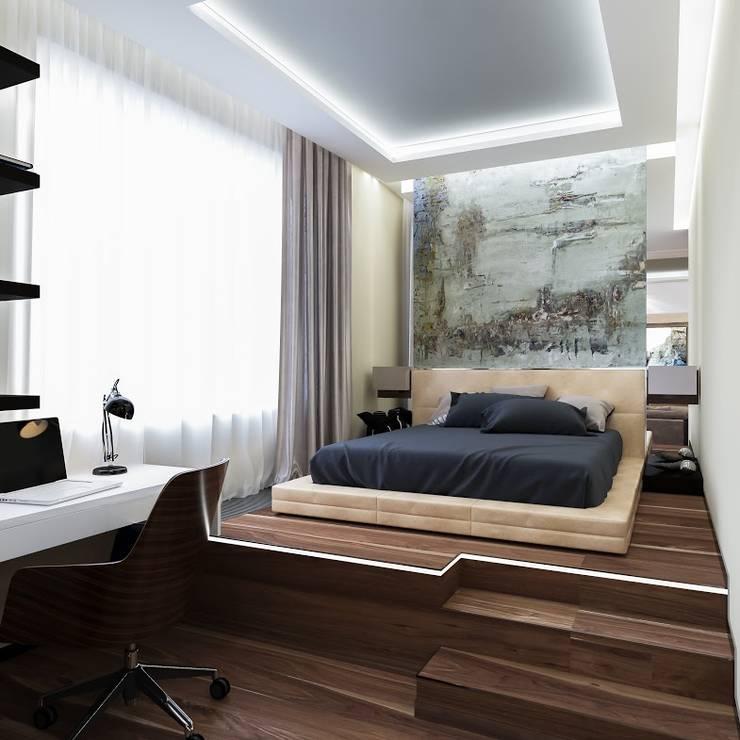 квартира в Москве Спальня в стиле модерн от Interierium ДИЗАЙН ИНТЕРЬЕРОВ Модерн