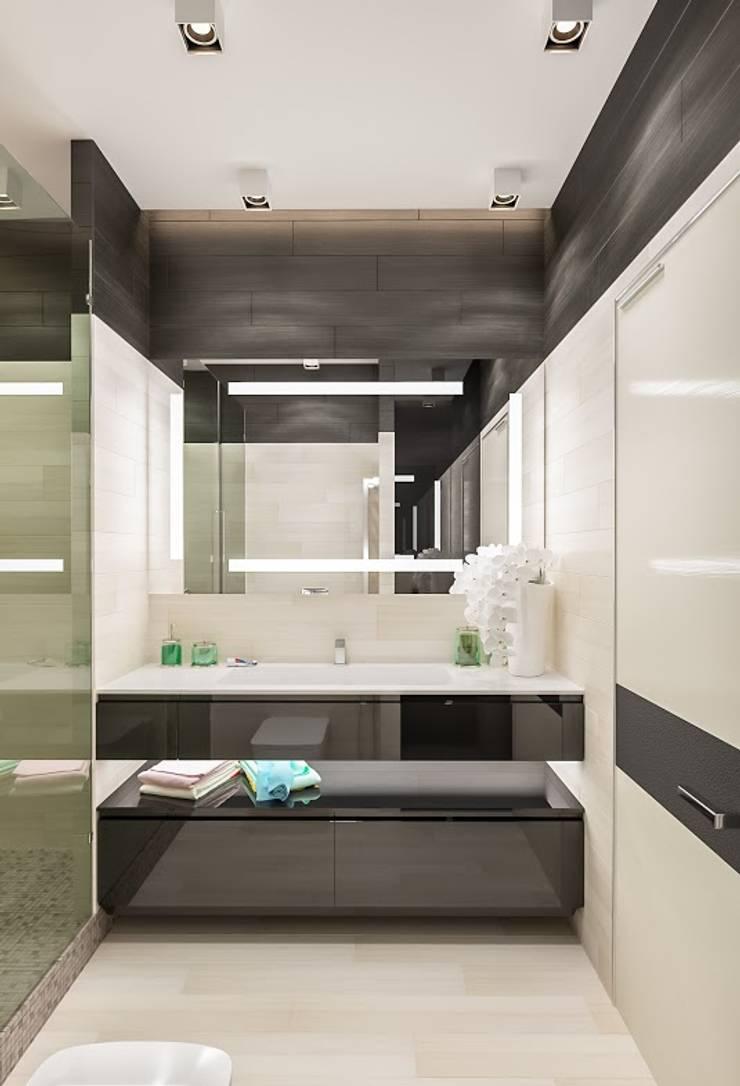 квартира в Москве Ванная комната в стиле модерн от Interierium ДИЗАЙН ИНТЕРЬЕРОВ Модерн