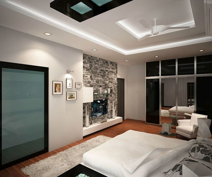 4 bedroom Villa at Prestige Glenwood: modern Bedroom by ACE INTERIORS