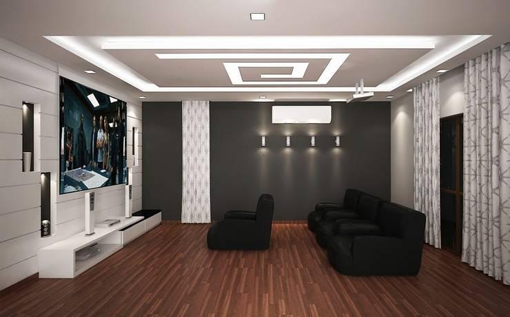4 bedroom Villa at Prestige Glenwood: modern Media room by ACE INTERIORS