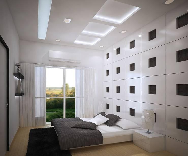 4 bedroom Villa at Prestige Glenwood: modern Bedroom by ACE INTERIORS