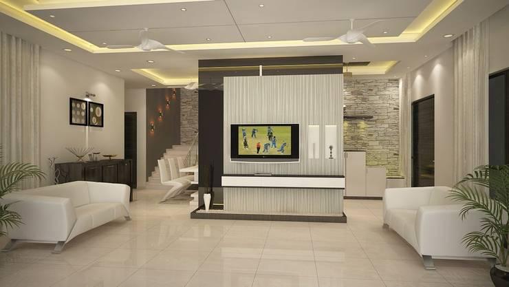 4 bedroom Villa at Prestige Glenwood: modern Living room by ACE INTERIORS