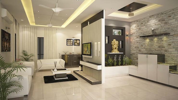 4 bedroom Villa at Prestige Glenwood: modern Living room by ACE INTERIORS