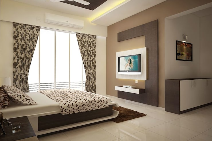 Apartment at Adarsh Palm Retreat:  Bedroom by ACE INTERIORS