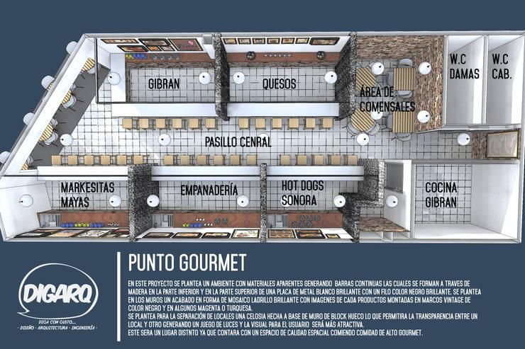 PUNTO GOURMET:  de estilo  por DIGARQ, Minimalista