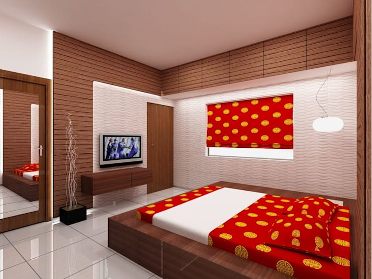 Apartment on Sarjapur Road:  Bedroom by ACE INTERIORS