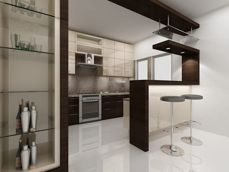 Kitchen by ACE INTERIORS