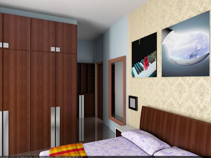 Apartment at Bannerghatta Road:  Bedroom by ACE INTERIORS