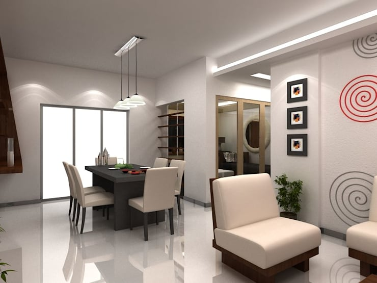Apartment at Bannerghatta Road: modern Dining room by ACE INTERIORS