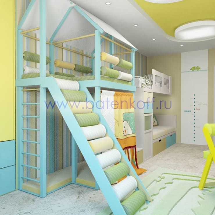 Дизайн проект детской комнаты в Екатеринбуге от Батенькофф: Детские комнаты в . Автор – Дизайн студия 'Дизайнер интерьера № 1'