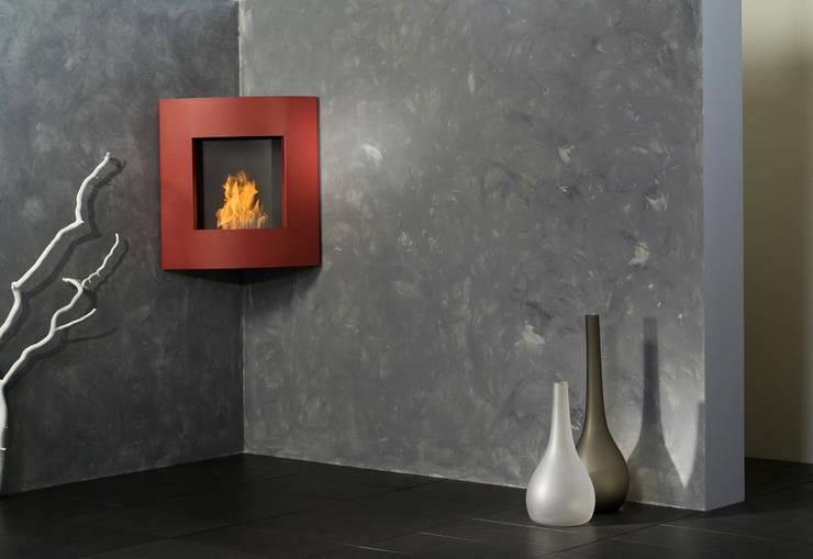 aBlaze:  Wohnzimmer von muenkel design - Elektrokamine aus Großentaft