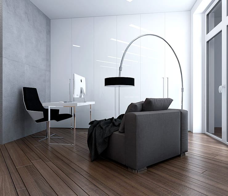 minimalistic Study/office by TrioDesign