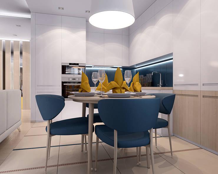Студия Кухня в стиле минимализм от TrioDesign Минимализм
