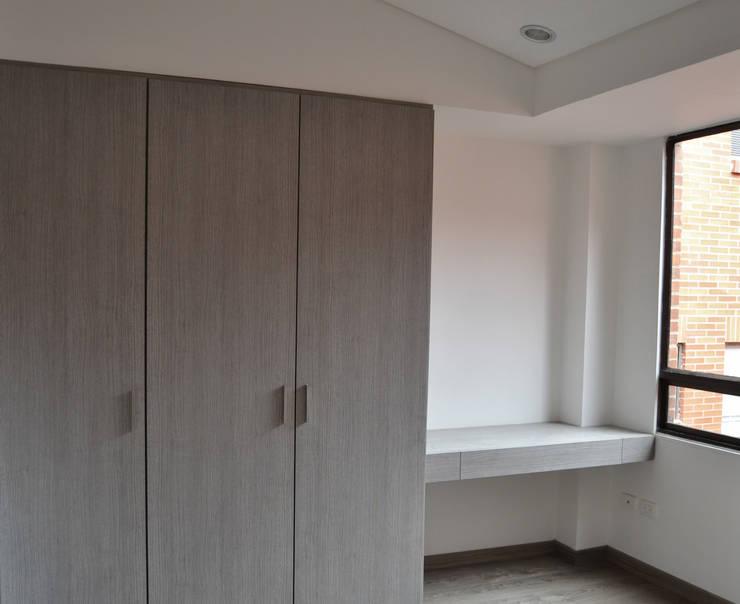 APARTAMENTO 104: Habitaciones de estilo  por santiago dussan architecture & Interior design, Minimalista