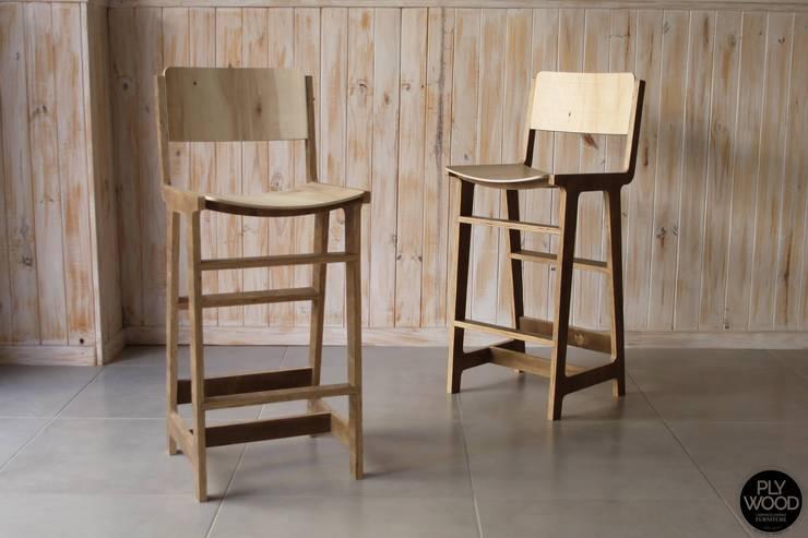 Muebles de Diseño Plywood: Comedores de estilo  por Plywood,
