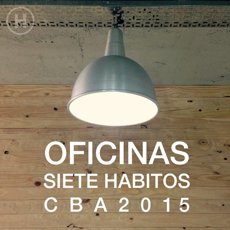 SIETE HABITOS OFICINAS: Edificios de Oficinas de estilo  por HO ARQUITECTOS ,Moderno