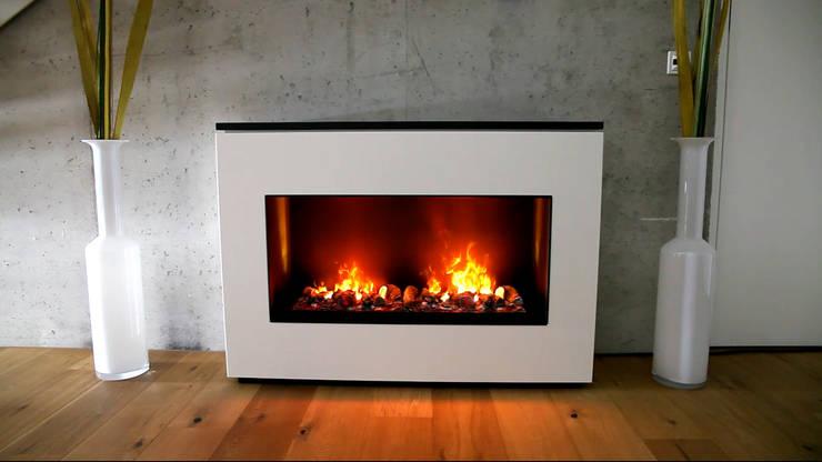 wall fire:  Wohnzimmer von muenkel design