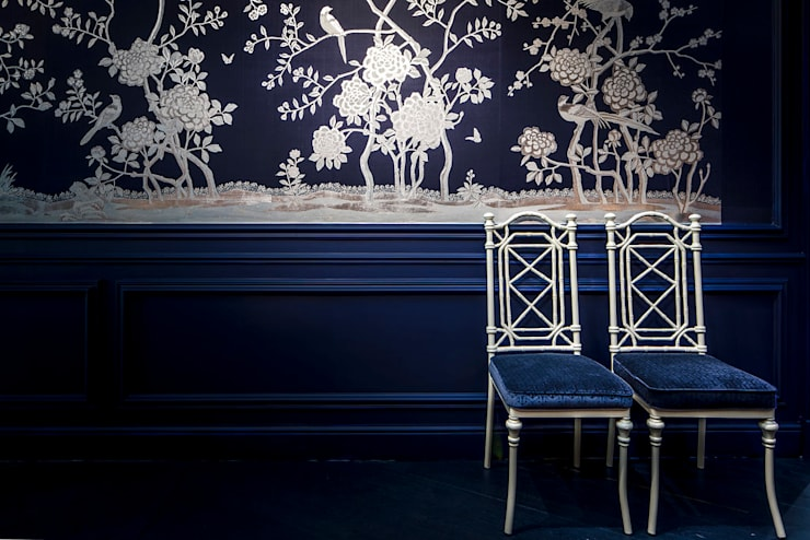 Blue Corridor:  Gang en hal door Ethnic Chic Home Couture, Klassiek