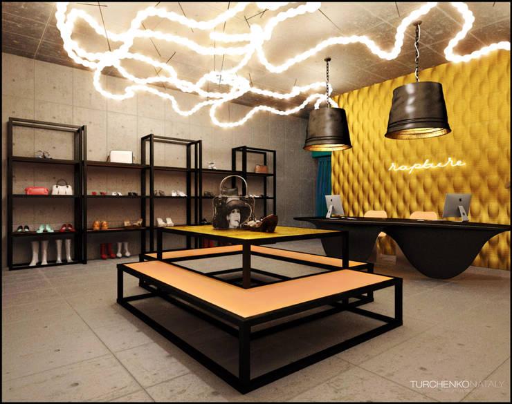 Дизайн магазина женской одежды RAPTURE Офисы и магазины в эклектичном стиле от TUR4ENKONATALY design space Эклектичный