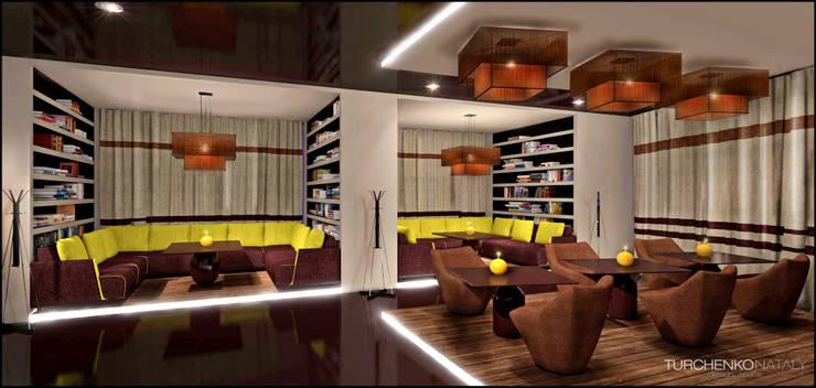 Дизайн кафе LIBRA Бары и клубы в стиле модерн от TUR4ENKONATALY design space Модерн