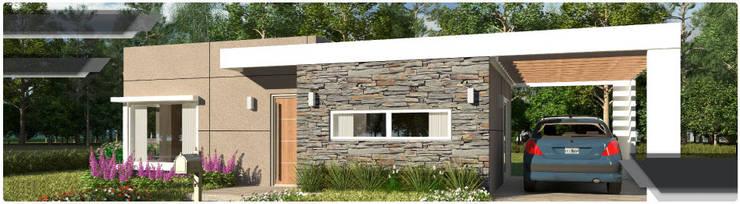 Casas de estilo moderno de ARQUIHOUSE