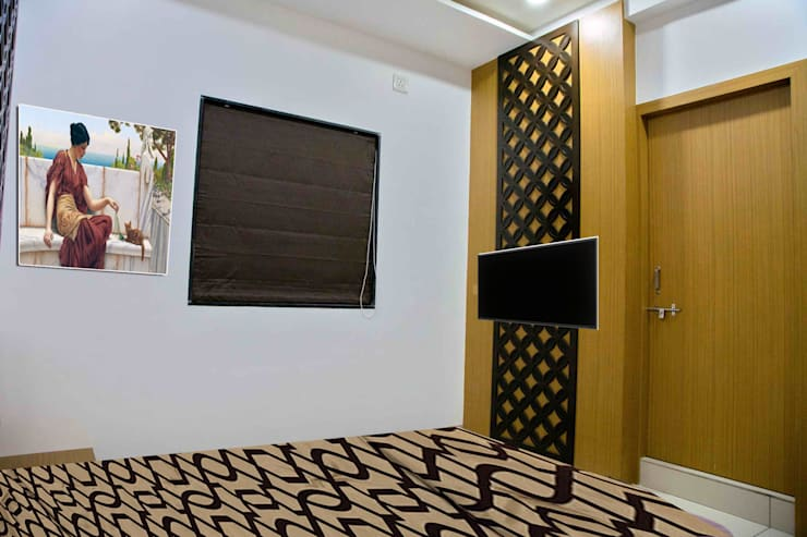 TV Unit: modern Bedroom by ZEAL Arch Designs