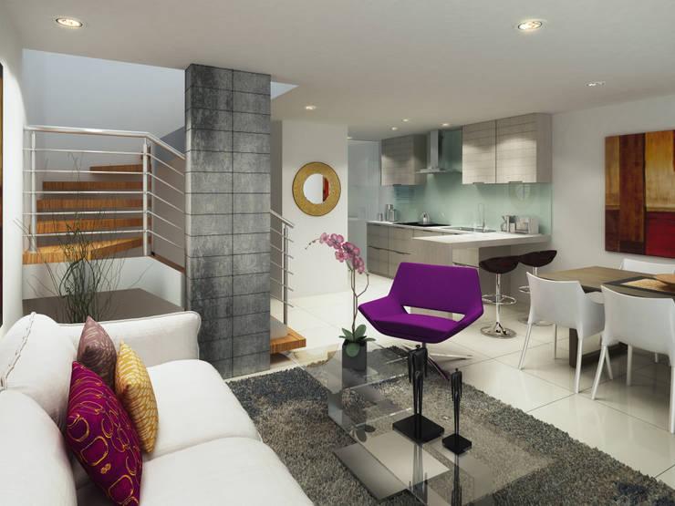 Casa modelo:  de estilo  por MIESGROUP,