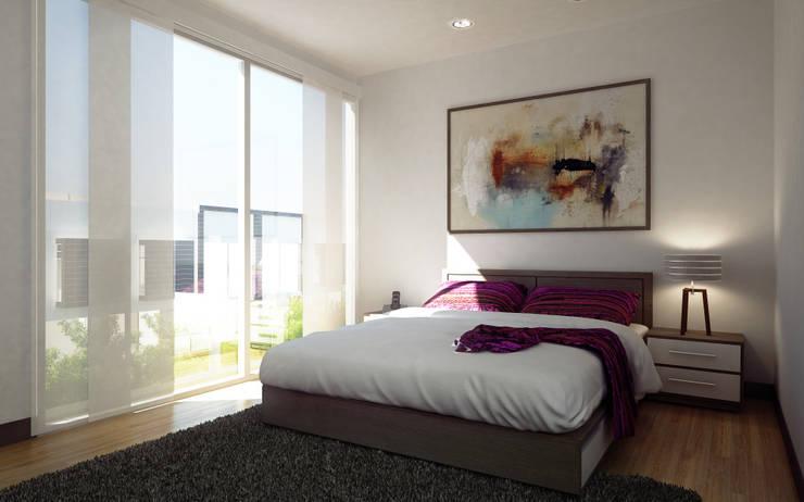 Habitación Principal:  de estilo  por MIESGROUP,