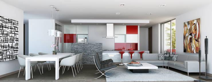 Departamento modelo: Casas de estilo  por MIES GROUP