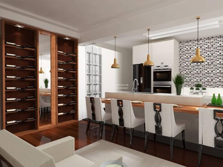 Cozinha Integrada : Cozinhas  por Spazzio Design