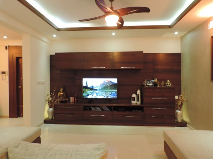 Interiors:  Living room by Joby Joseph Interior