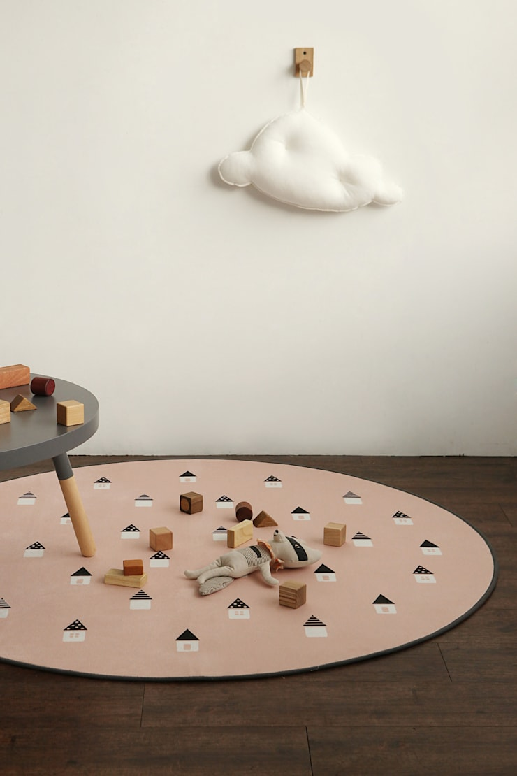 Round rug - 01 Dreaming: (주)이투컬렉션의  침실