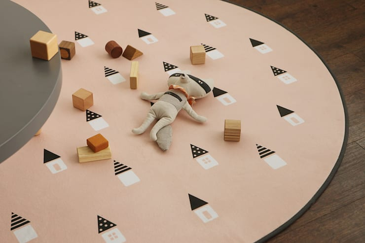 Round rug – 01 Dreaming: (주)이투컬렉션의  침실