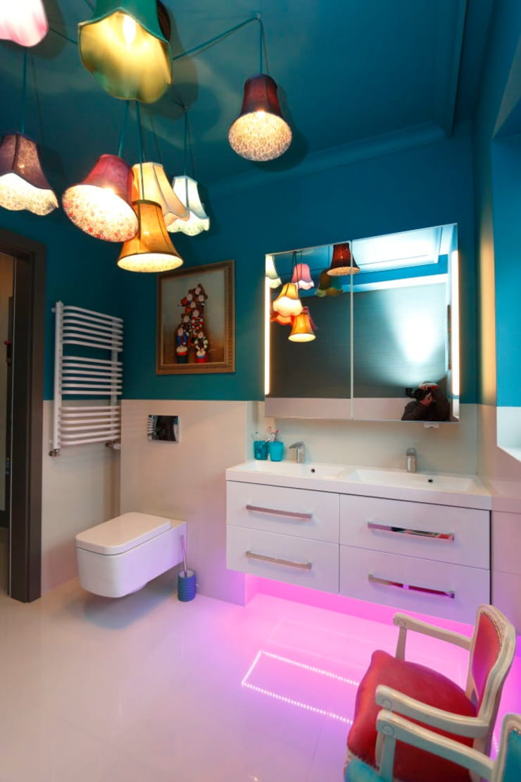 Moderne Badezimmer von livinghome wnętrza Katarzyna Sybilska Modern Stein