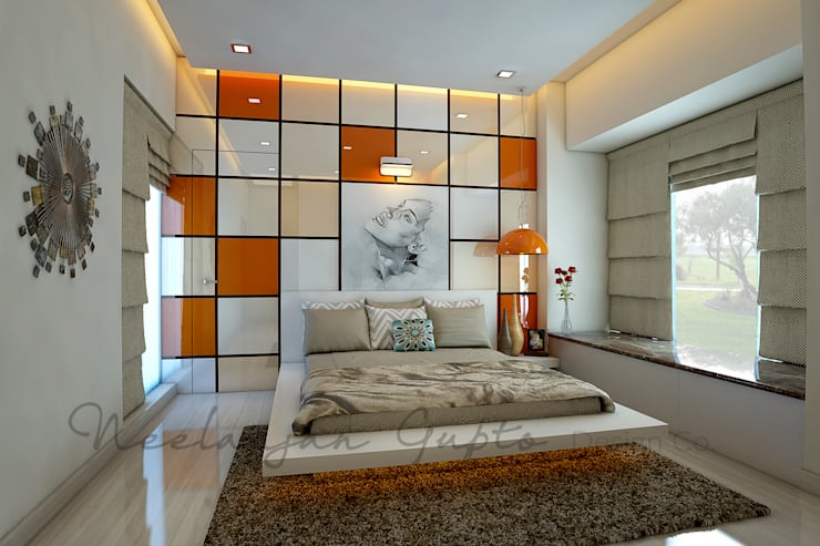 dev's bedroom:  Bedroom by Neelanjan Gupto Design Co