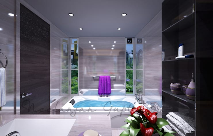 Bathroom تنفيذ Neelanjan Gupto Design Co