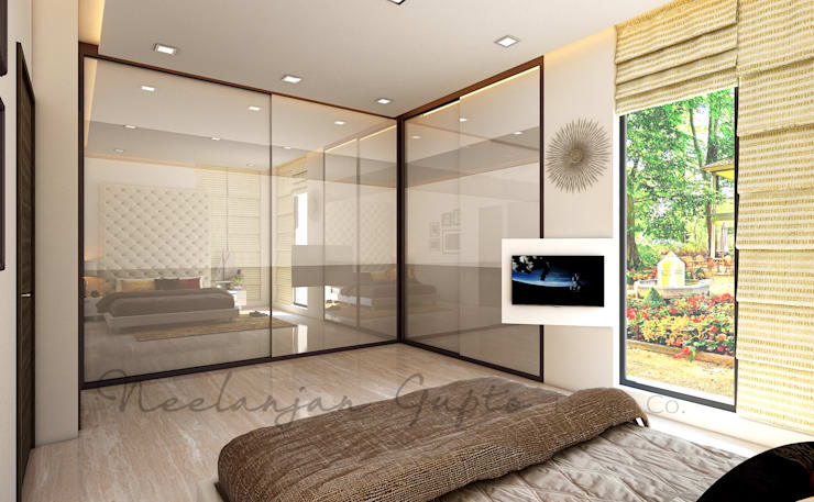 modern Bedroom تنفيذ Neelanjan Gupto Design Co