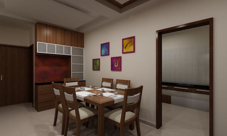 Pathare Residence :  Dining room by MAVERICK Architects