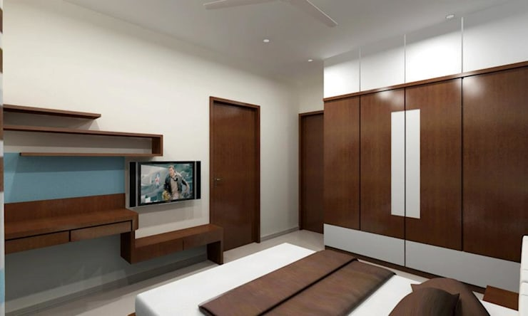 Pathare Residence :  Bedroom by MAVERICK Architects
