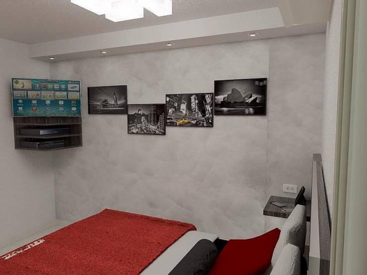 Diseño de apartamento privado:  de estilo  por Sixty9 3D Design