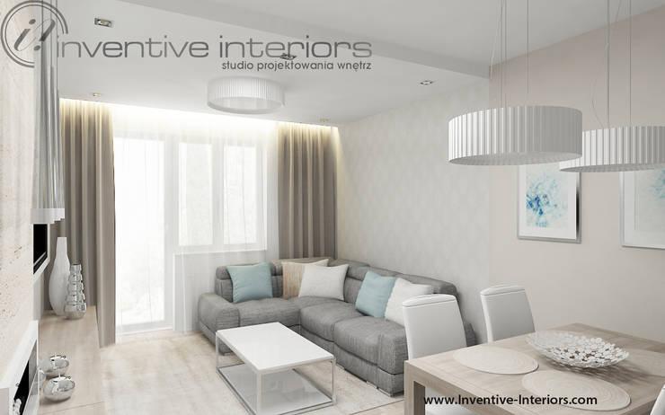 Jasny beżowy salon: styl , w kategorii Salon zaprojektowany przez Inventive Interiors