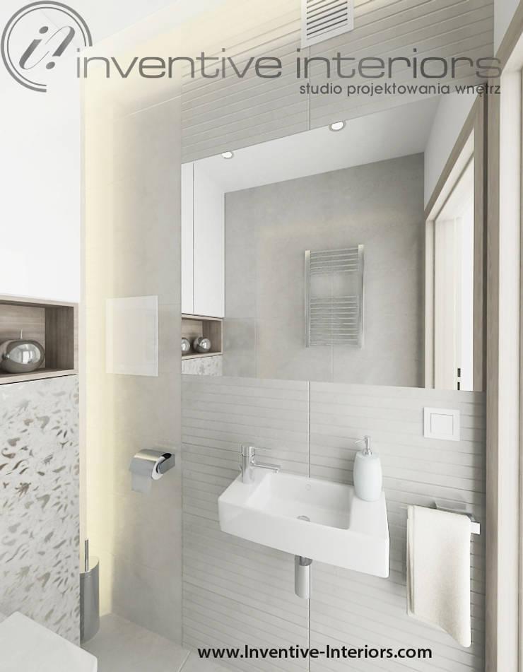 Mała jasna łazienka: styl , w kategorii Łazienka zaprojektowany przez Inventive Interiors,Nowoczesny