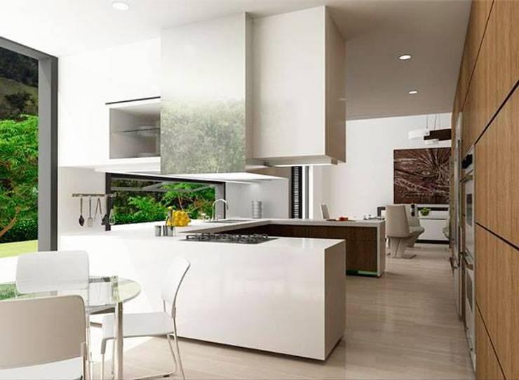 Casa la Unión: Cocinas de estilo clásico por FR ARQUITECTURA SAS