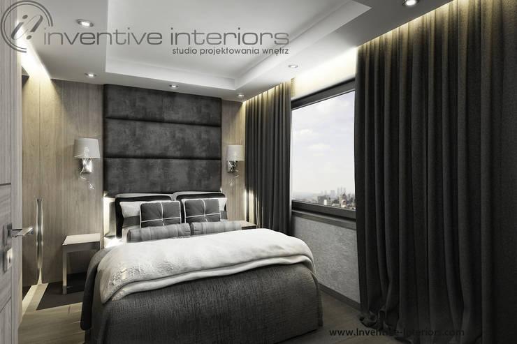 Szara sypialnia z jasnym drewnem: styl , w kategorii Sypialnia zaprojektowany przez Inventive Interiors,Klasyczny