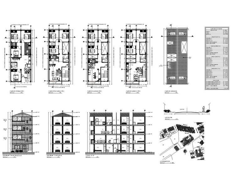 Renders y Planos:  de estilo  por Arqplanos