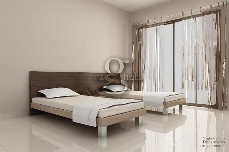 Bedroom Interiors:  Bedroom by Vaghela interiors