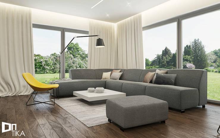Salon: styl , w kategorii Salon zaprojektowany przez TIKA DESIGN,Nowoczesny Drewno O efekcie drewna